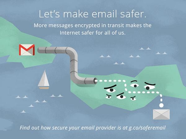 Mã hóa tất cả email chuyển giữa Gmail, Yahoo Mail