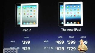 Giá iPad 2 giảm còn 399 USD bản 16 GB Wi-Fi, 529 USD bản 3G