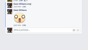Facebook thử nghiệm tính năng chèn sticker vào bình luận