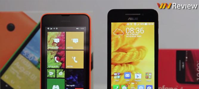 Video so sánh chi tiết Nokia Lumia 530 và Asus Zenfone 4