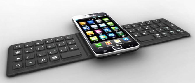 Bàn phím gập được cho smartphone và máy tính bảng