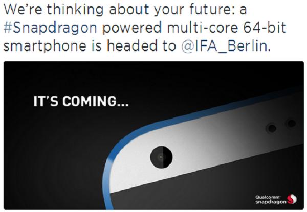 HTC Desire 820 là smartphone đầu tiên sử dụng chip 64 bit của Qualcomm?