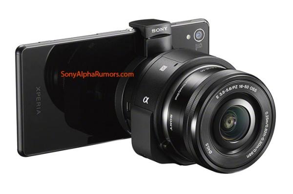 Sony sắp ra ống kính camera QX1, trang bị ống kính cho smartphone