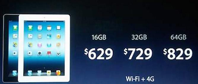 iPad mới xách tay mỗi nơi mỗi giá