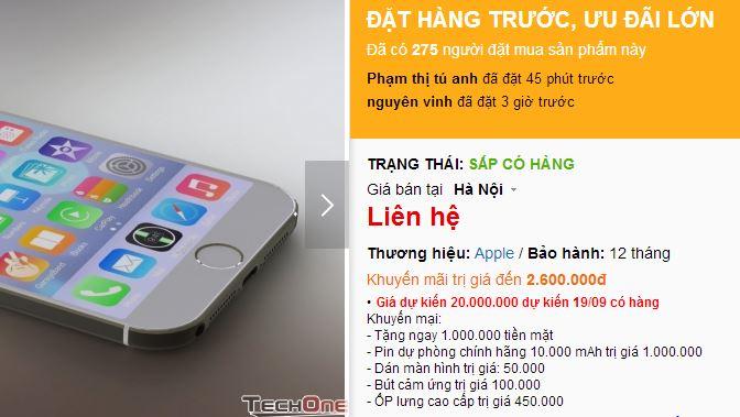 Giá iPhone 6 và iPhone 6 Plus xách tay về Việt Nam... khó đoán
