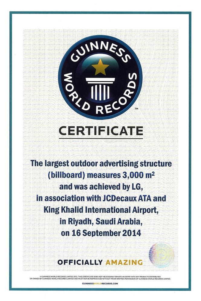 LG G3 lập kỷ lục với biển quảng cáo 3000 m2!