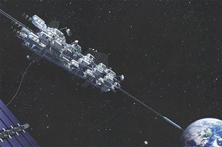 Vào vũ trụ bằng... thang máy kim cương