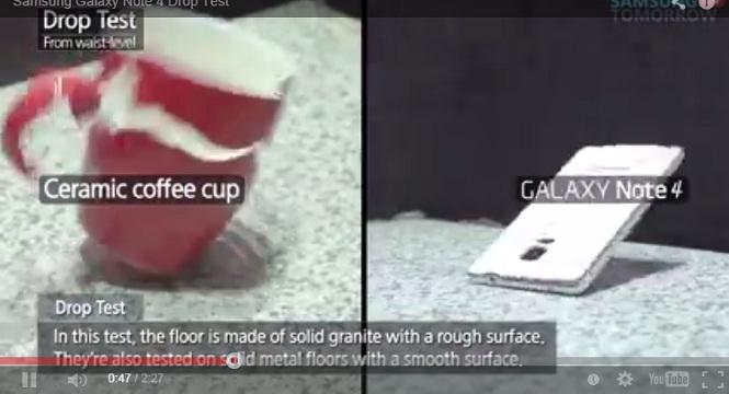 Video tra trấn Galaxy Note 4 bằng thử nghiệm thả rơi