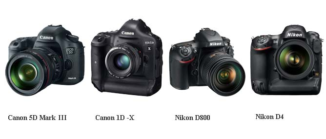 Canon 5D Mark III đọ với Canon 1D X, Nikon D4, Nikon D800