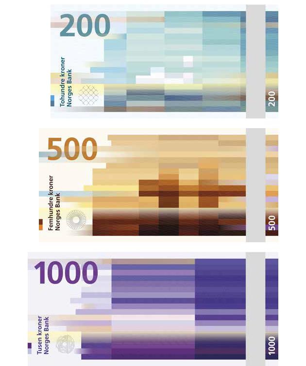 Mẫu tiền giấy mới của Na Uy là những tác phẩm nghệ thuật