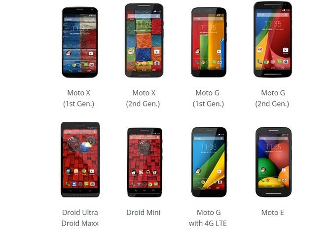 Những smartphone nào của Motorola sẽ được cập nhật Android Lollipop