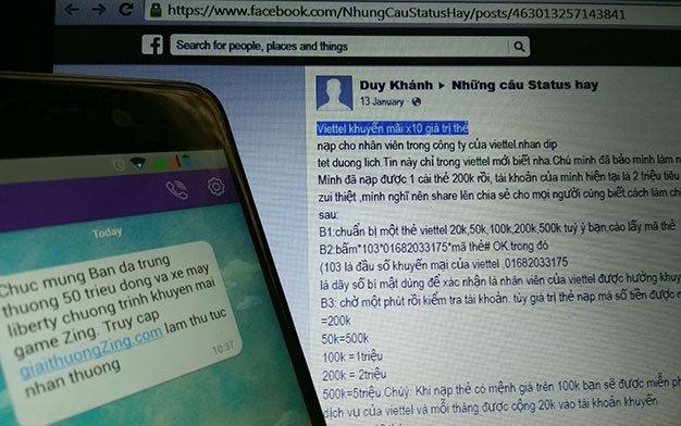 Tràn lan các chiêu lừa trên điện thoại di động, mạng xã hội - Ảnh: Đ.Thiện