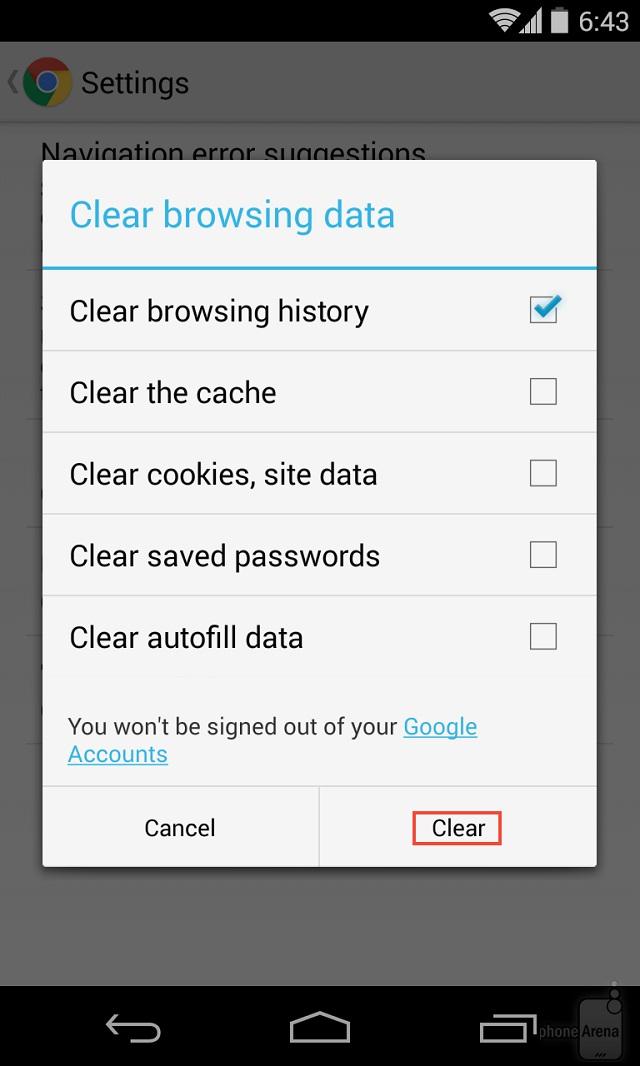 Làm thế nào để xóa lịch sử duyệt web và dữ liệu trình duyệt Chrome trên Android