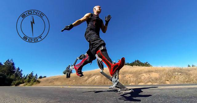 Giày mô phỏng chân đà điểu giúp người có thể chạy 40km/h