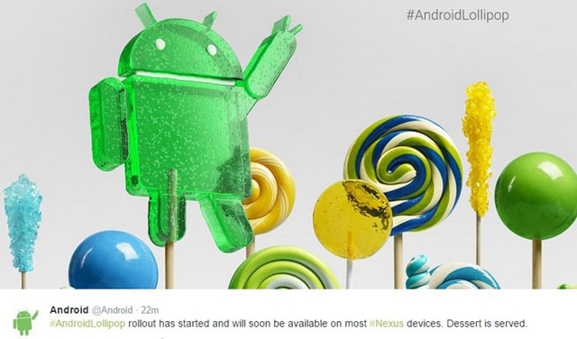 Hầu hết thiết bị Nexus sẽ được cập nhật Android 5.0 từ hôm nay