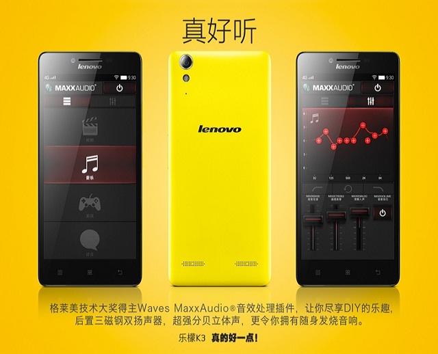 """Lenovo chính thức công bố điện thoại Lenovo K3 """"Music Lemon"""""""