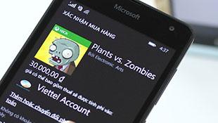 Hướng dẫn mua ứng dụng có phí trên Windows Phone bằng tài khoản Viettel
