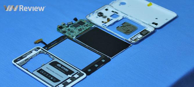 VnReview mổ smartphone giá rẻ Vivas Lotus S2 Eco của VNPT