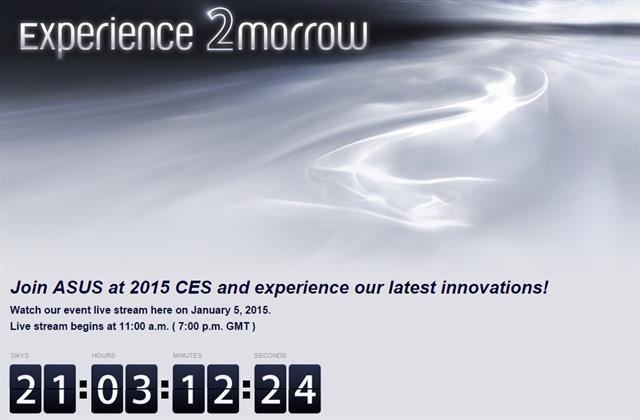 Sự kiện báo chí của Asus tại CES 2015 sẽ diễn ra vào ngày 5/1, sẽ có ZenFone mới
