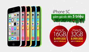 iPhone 5C chính hãng bất ngờ giảm giá 3- 5 triệu đồng