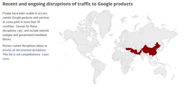 Dịch vụ Gmail bị chặn hoàn toàn ở Trung Quốc