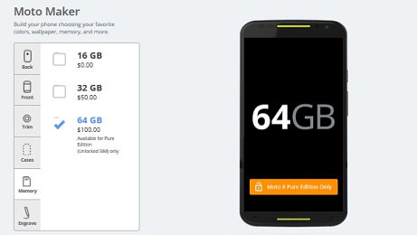 Moto X có thêm bản Pure Edition 64GB