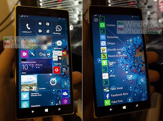 Lộ ảnh giao diện Windows 10 trên smartphone