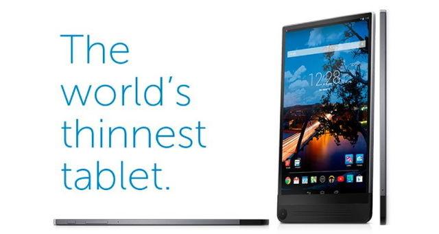"""Trong khi danh hiệu """"smartphone mỏng nhất thế giới"""" liên tục thuộc về tay các nhà sản xuất Trung Quốc, danh hiệu """"tablet mỏng nhất thế giới"""" sẽ chuyển từ tay Apple về Dell với chiếc Venue 8 7840 mới."""