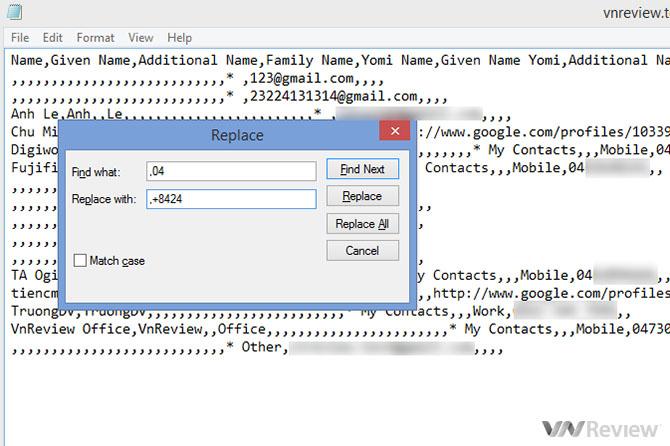 Hướng dẫn đổi mã vùng hàng loạt trên danh bạ iPhone, Android