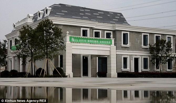 Trung Quốc khánh thành chung cư 5 tầng và biệt thự 100m2 in 3D