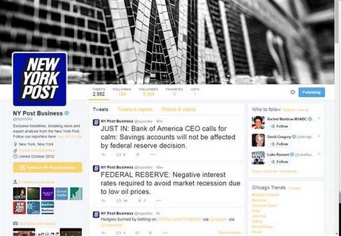 2 hãng thông tấn lớn là tờ báo New York Post và báo United Press International vừa bị hacker tấn công chiếm quyền kiểm soát và đăng tải các tin tức sai lệch sự thật.