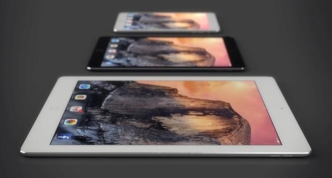 Ảnh dựng tuyệt đẹp so sánh iPad Pro và iPad Air 2, Mini 3