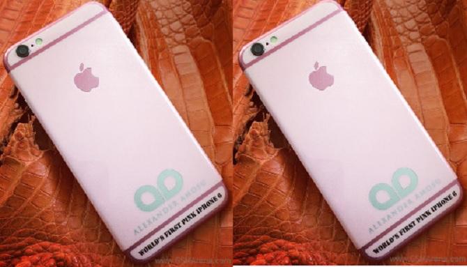 Amosu giới thiệu phiên bản iPhone 6 màu hồng cho mùa Valentine