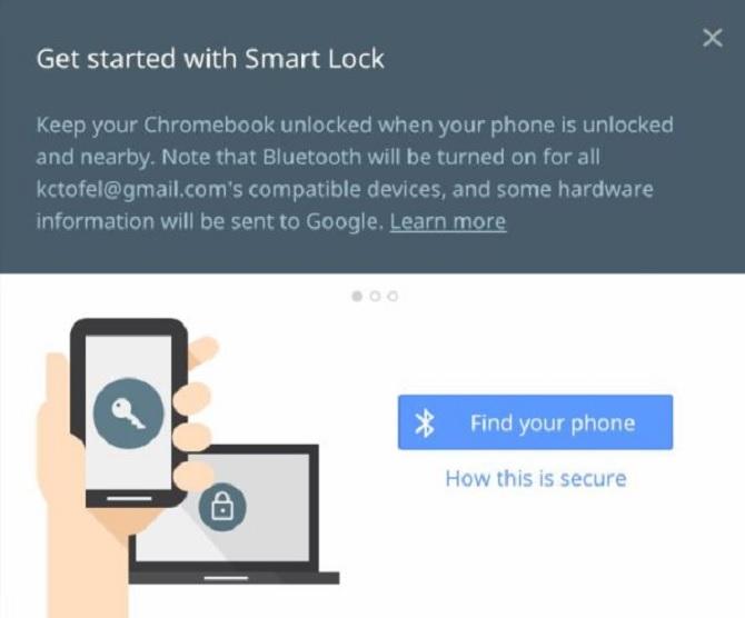 Mở khóa Chromebook bằng điện thoại Android