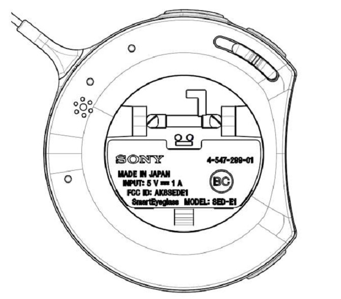 Sony SmartEyeglass xuất hiện trên FCC