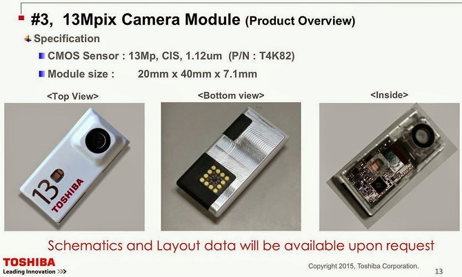 Lộ diện mô-đun máy ảnh của Toshiba cho Project Ara