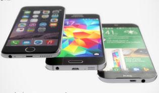 Ảnh dựng HTC One M9 đọ dáng với Galaxy S6 và iPhone 6 Plus