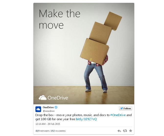 Người dùng Dropbox chuyển sang sử dụng OneDrive được tặng 100GB dung lượng miễn phí