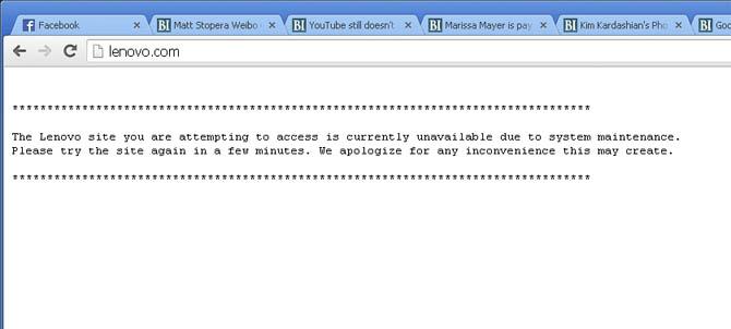 Trang chủ Lenovo bị hack bởi Lizard Squad