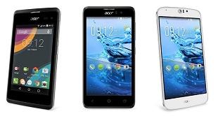 Acer ra mắt loạt smartphone giá rẻ Liquid Z, Jade Z và M220 mới