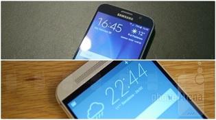 Đặt Galaxy S6 và HTC One M9 lên bàn cân