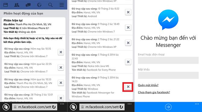 Cách đăng xuất messenger
