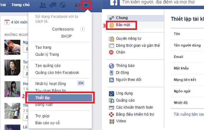 Đăng xuất messenger facebook