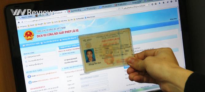 Đổi giấy phép lái xe qua mạng từ tháng 4/2015