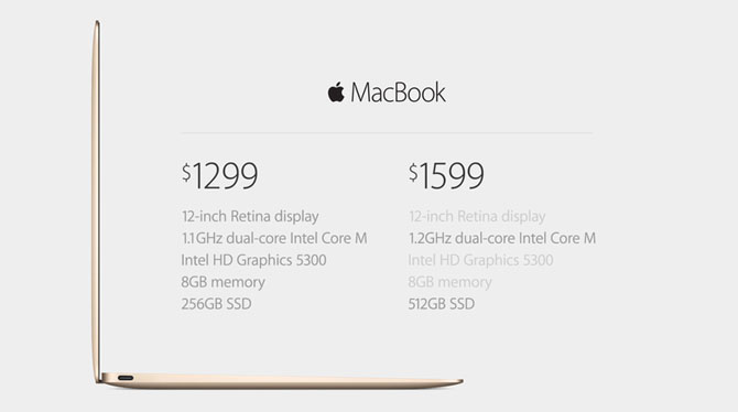 Apple bất ngờ trình làng MacBook mới, màn hình 12 inch Retina