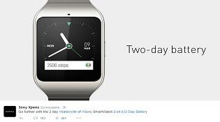 """Sony """"đá đểu"""" thời lượng pin của Apple Watch"""