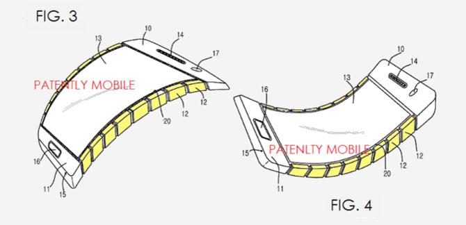 Samsung đệ trình bằng sáng chế smartphone có thể uốn cong