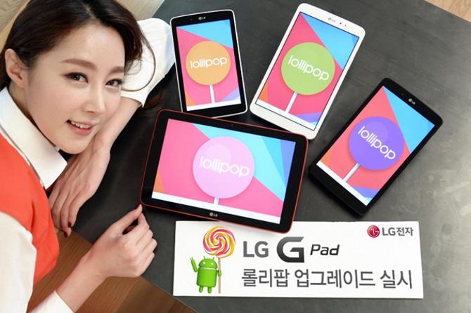 LG bắt đầu cập nhật Android 5.0 Lollipop cho dòng tablet G Pad