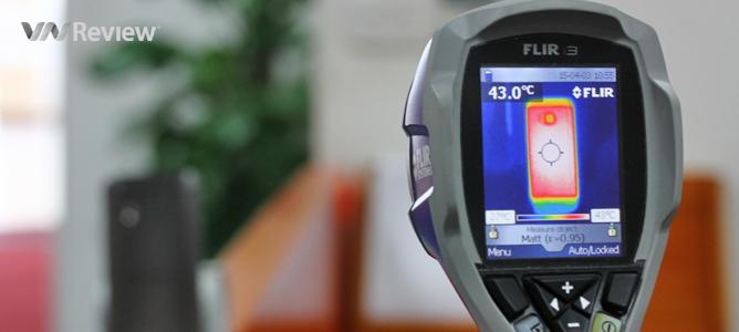VnReview đo nhiệt độ hoạt động của HTC One M9, so với đối thủ