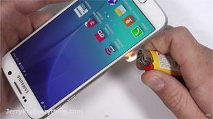 Video bẻ cong, hơ lửa và cào xước Galaxy S6